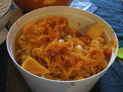 bucket o' pumpkin guts