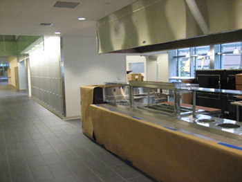 Unfinished cafeteria in new building